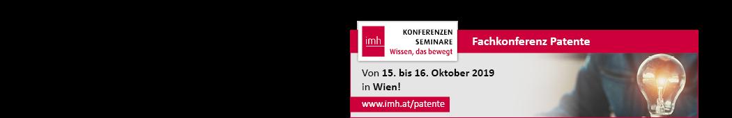 Besuchen Sie unserem Stand auf der Patente 2019 in Wien.