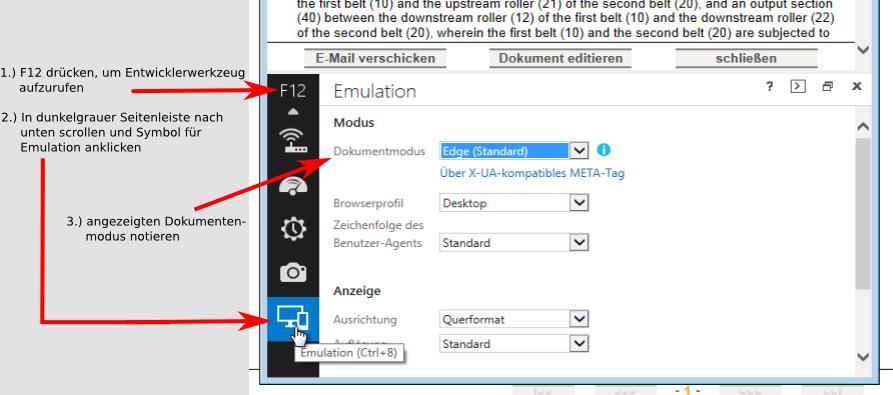 Internet Explorer Kompatibilitätsansicht